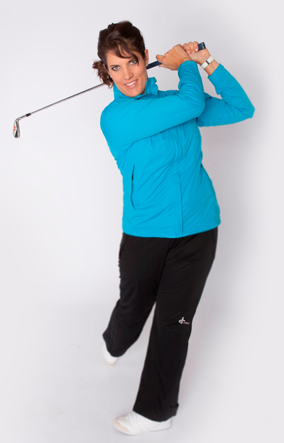 Cross Ambassador Caroline Rominger in FXT Pro Jacket blau